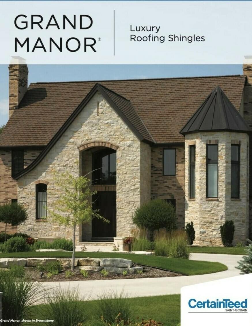 Grand Manor CertainTeed asphalt shingles brochure cover image