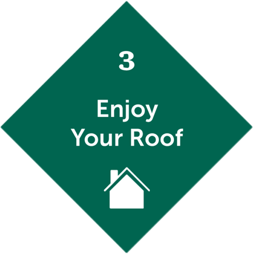 Third step will be you enjoying a new exterior remodel