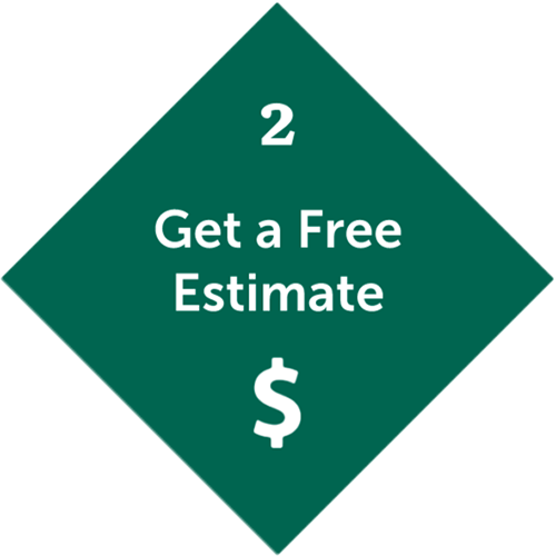Second step is Get a free quote with dollar sign icon