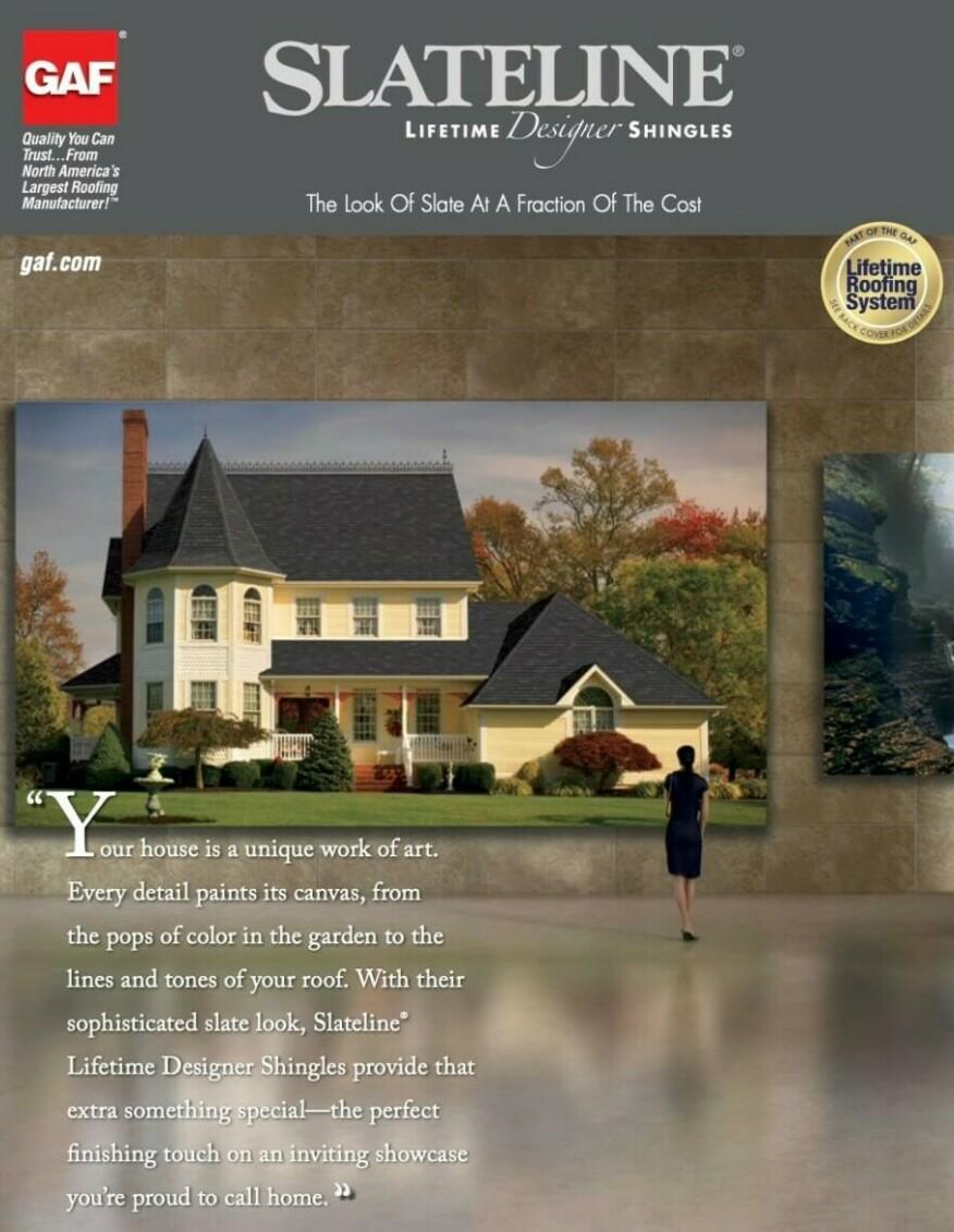 Slateline GAF asphalt shingles brochure cover image